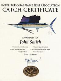 igfa catch certificates