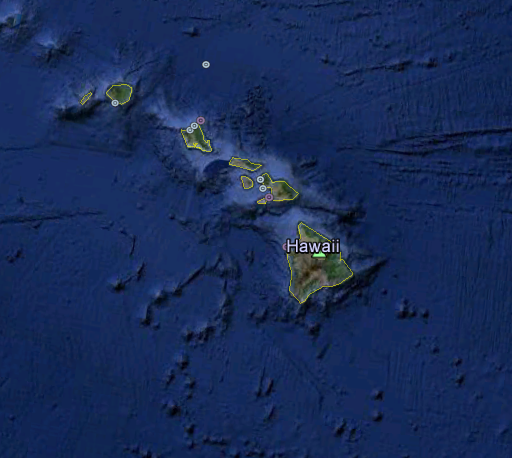 Hawaii, USA Map